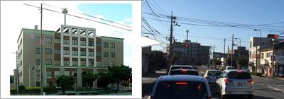 宇部地方合同庁舎が正面に出てきます。ここを右折します。